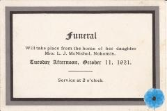 Announcement, Funeral